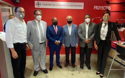 Director general del INPOSDOM visita al presidente ejecutivo del Parque Cibernético